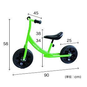 ペダルなし自転車グリーン