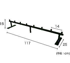 ペダルなし自転車整理スタンド(7台用)